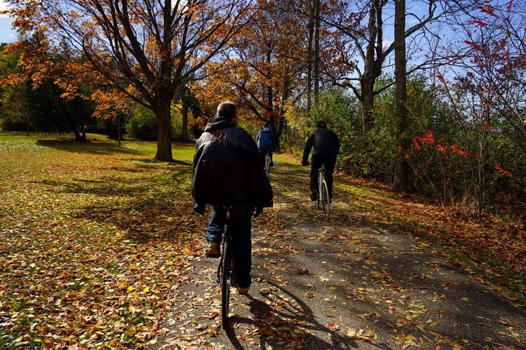 CyclingUnites Cold and windy after the rains cleared and perfect for bike rides, get them in while you can, winter is coming! Vermont Bicycles Pedal October Fallfoliage