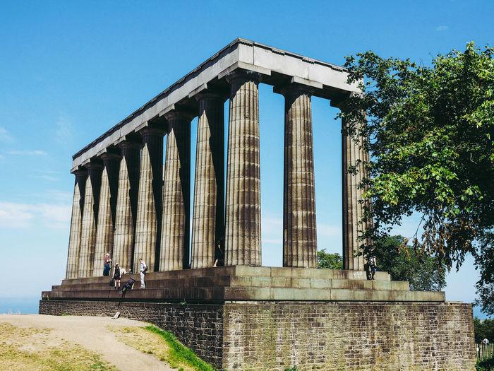 Calton Hill Architecture Calton Hill Edinburgh Scotland United Kingdom Calton Hill Monument Column Monument