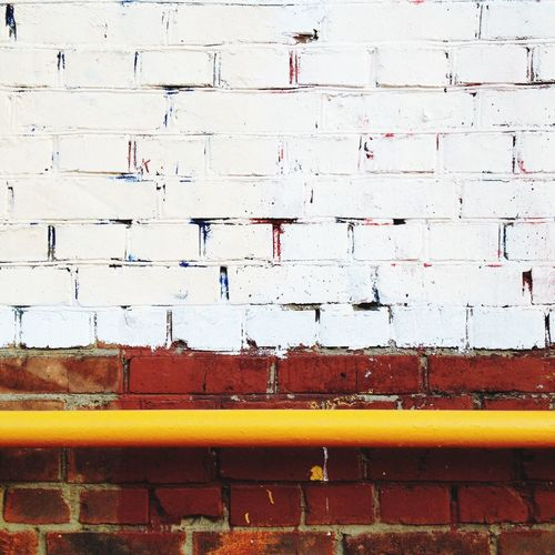 Low Angel View Of Pipe On Wall