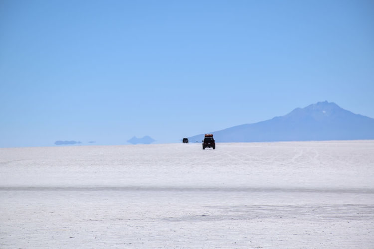 Horizon visible from salar de uyuni, bolivia