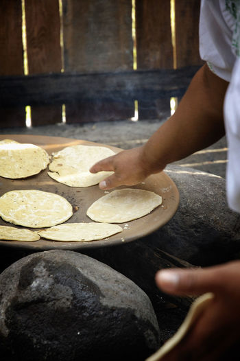 Food Food And Drink Freshness Human Hand Making Tortillas Mexican Food Occupation Preparation  Preparing Food Real People Tortilla Traditional Cooking Visual Feast