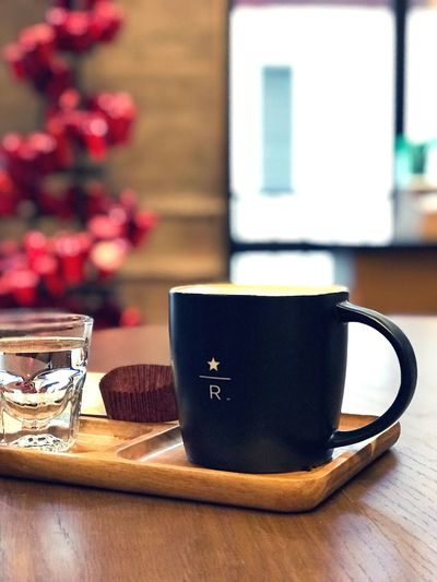 Lonesome is fine Living In Downtown Starbucks Reserve Happy Loneliness Time For Me Coffee Alone Coffee Cup Drink Indoors  Food And Drink