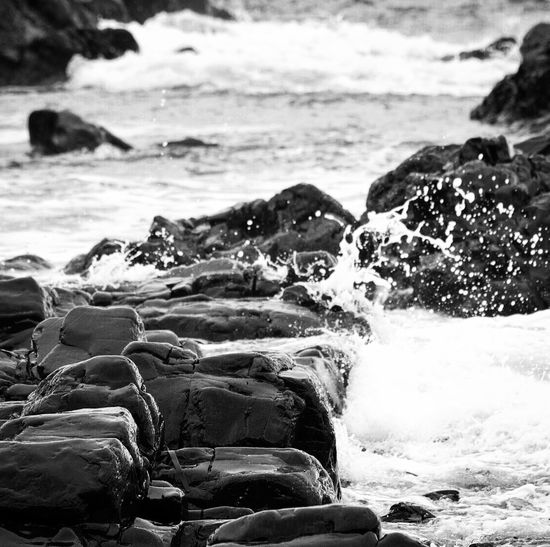 Black & White Black And White Bnw_captures Bnw Bnw_collection Blackandwhite Check This Out Waves Sea Crash Crashing Waves  Water Rocks And Water Shore Shoreline Easdale Scotland Scottish Highlands EyeEm Best Shots Nikon