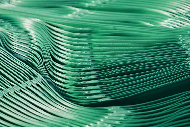 Plastic material Coiled Green Detail Green Colour Highlights Plastic Structure Synthetic Material