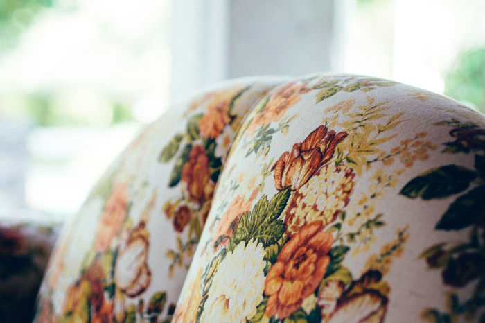 flowers on Sofa Close-up Design Flowers Focus On Foreground Furniture Home Is Where The Art Is Interior Design Natural Pattern Selective Focus Sofa Still Life Always Be Cozy
