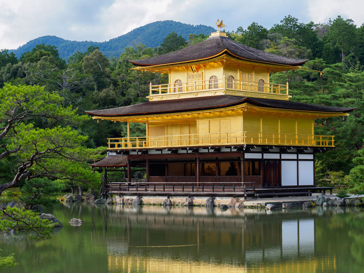 Kyoto Architecture Beauty In Nature Building Exterior Built Structure Culture Day Exterior Golden Mount Kinkaku-ji Lake Majestic Mountain No People Outdoors Place Of Worship Religion Scenics Sky Spirituality Temple Tranquil Scene Tranquility Tree Water Waterfront