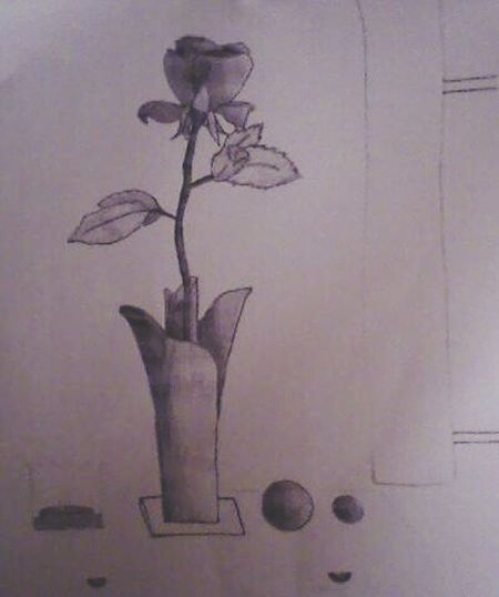 Drawing Rosé 6 Years Ago - It was drawn during a trip. My family, my friends & I were in a restaurant & were waiting for our meal.... 🌹