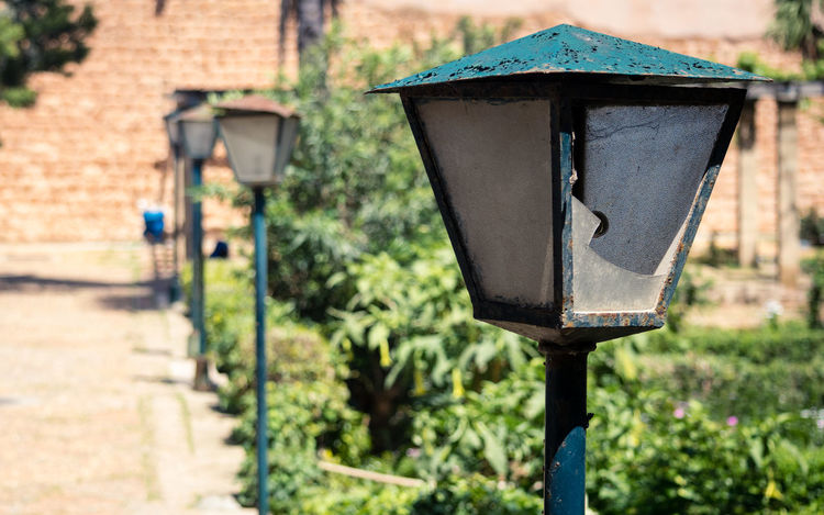 Lanterns on the road Lantern Lanterns Oudaya OudayasRabat Udayas Architecture Building Exterior Built Structure Day Electric Lamp Focus On Foreground Gas Light Lighting Equipment Metal Nature No People Outdoors Plant Street Street Light Sunlight