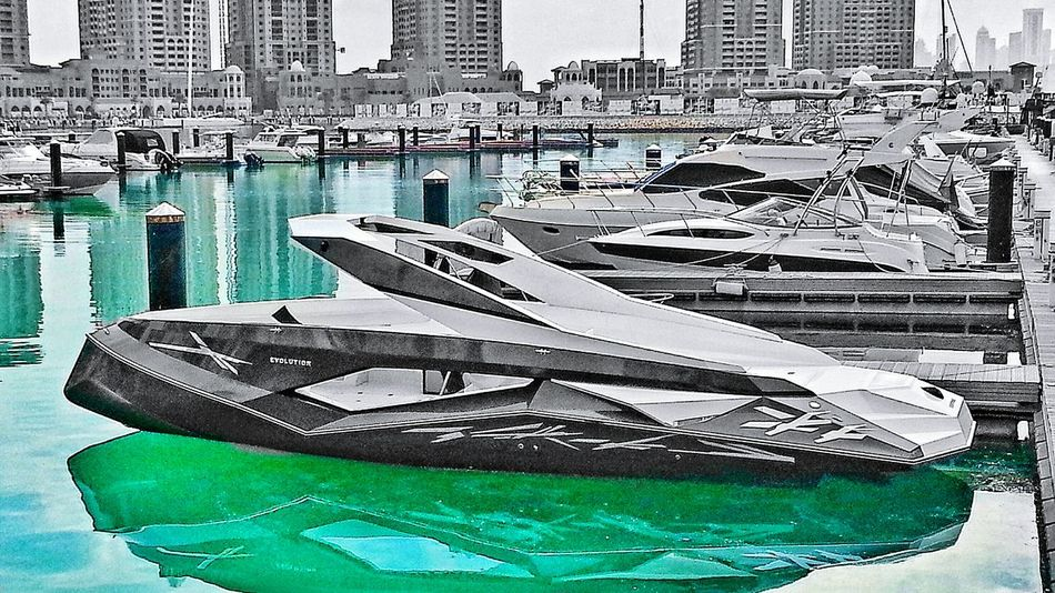 Boats of Doha Boat Marina Modern Selective Color Sharp Angles B&w Blackandwhite The Pearl, Doha Unique Unique Style Speedboat