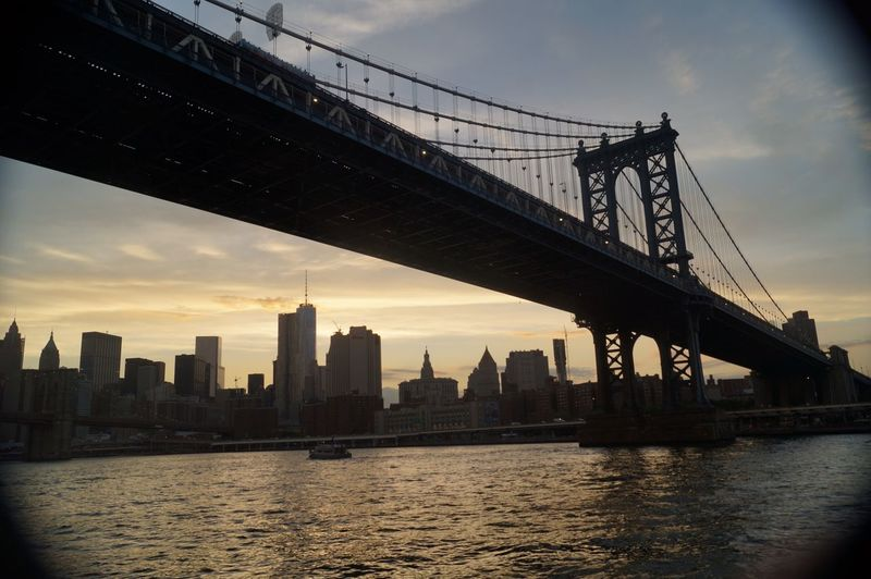 Underthebridge Bridge NYC Bigapple Water View Sunset
