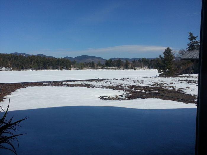 Lake Frozen Landscape  Frozen Lake Winter