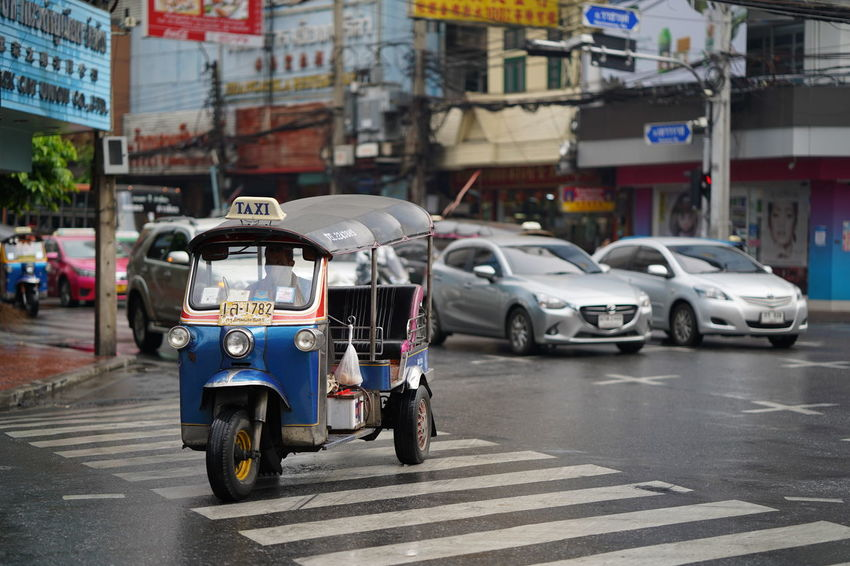 tuk tuk thailand Thailand EyeEm Best Shots Traveling Traveller TukTuk Motorcycle City Car Driving Street City Life Business Finance And Industry City Street Architecture Taxi Traffic Jam Land Vehicle Vehicle Traffic