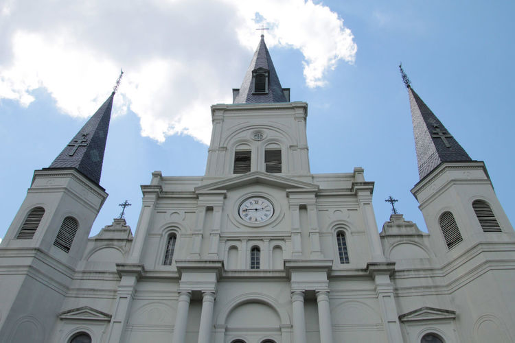 St. Louis Cathedral Architecture Belief Building Building Exterior Built Structure Cloud - Sky Day Low Angle View Nature No People Outdoors Place Of Worship Religion Sky Spire  Spirituality Tower Travel Destinations