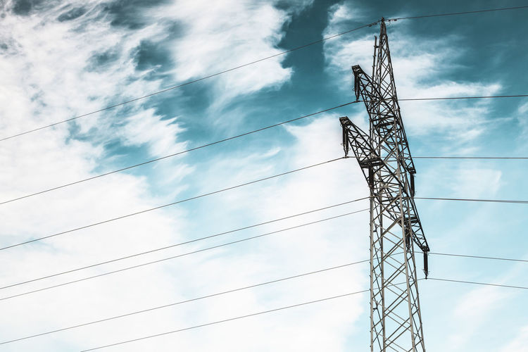 Architecture Built Structure Cable Cloud - Sky Complexity Connection Day Electricity  Electricity Pylon Fuel And Power Generation Low Angle View Metal Nature No People Outdoors Power Line  Power Supply Sky Tall - High Technology Tower