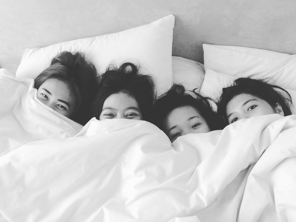 True friends say good things behind your back and bad things to your face~ Hello World Enjoying Life EyeEm Indonesia Asian Girl Friendship Sleepover Monochrome Photography Monocrhome