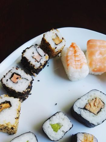 EyeEm Selects Food And Drink Healthy Eating High Angle View Appetizer SLICE Food Freshness Sushi Close-up Ready-to-eat Seafood Asian Cuisine