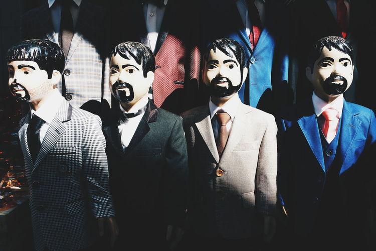 Men in mask