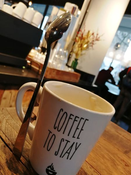 Coffer to stay Drink Text Coffee - Drink Food And Drink Indoors  Refreshment Preparation  Cafe No People