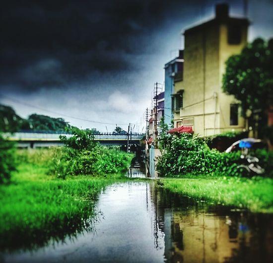 Streetsunderwater Waterlog Kolkatacity Rainy Days Sky