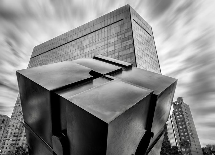 Cubed No People City Sculpture City Life Manhattan EyeEm Selects Cloud - Sky Sky Nature Low Angle View No People Day Built Structure Architecture Focus On Foreground Outdoors Close-up Building Exterior Pattern Metal My Best Travel Photo