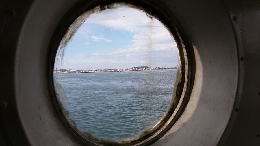 Circle Water Window No People Harbor Nautical Vessel
