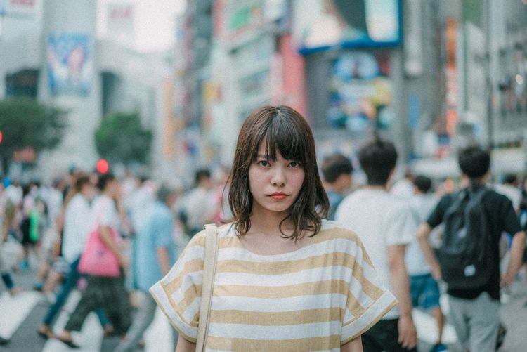 Child Childhood Front View Lifestyles Girls One Person Real People Portrait Focus On Foreground Women Hairstyle Looking At Camera Looking Leisure Activity Females Casual Clothing Warm Clothing Standing Waist Up Innocence
