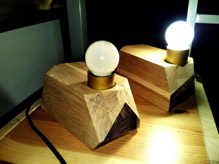 Handmade For You Home Interior Lamps Wooden Wood - Material Wooden Lamp No People Home Showcase Interior Indoors