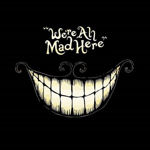 We're All Mad Here Thecat Aliceinwonderland Alice Smile Mad Weareallmadhere Film MOVIE Followme