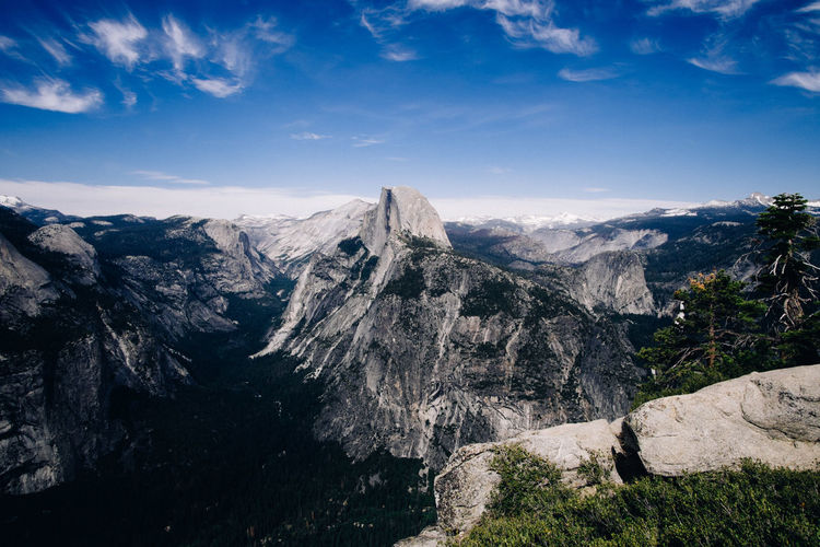 Beauty In Nature California Half Dome Mountain Rock Rock Formation Sky Tranquility USA Yosemite National Park