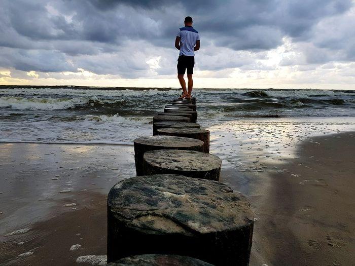sea shore Man