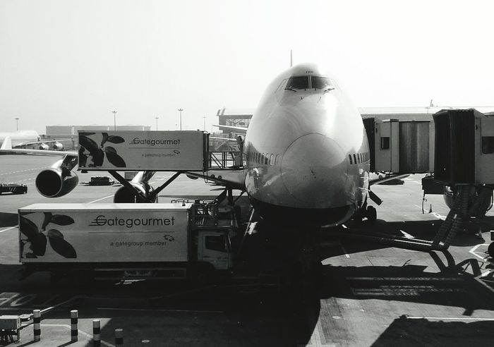 Planes Airport British Airways Boeing 747 Blackandwhite Black & White JFK Airport