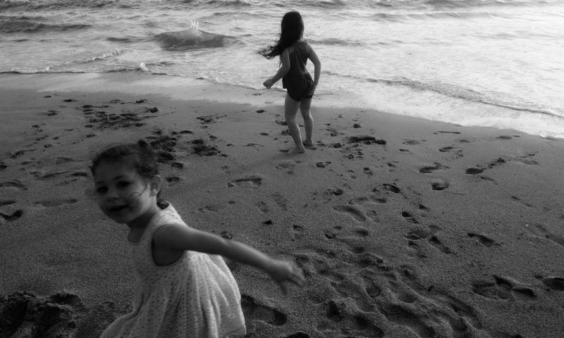 Blackandwhite Childhood Memories California Coast HalfMoonBay Great Outdoors With Adobe Photo Jurnalist Eyem 2016 The Great Outdoors - 2016 EyeEm Awards People Of The Oceans Girl Power Monochrome Photography