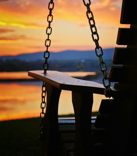 """There is beauty and clarity that comes from simplicity that we sometimes do not appreciate in our thirst for intricate solutions."" Pennsylvania Pennsylvania Landscape Pennsylvania Beauty Justgoshoot Bestoftheday Visualsoflife Exploretocreate Photooftheday Photography Canon Photograph Photo Sunrise Sunset Hanging Swing Chain Sky Close-up Silhouette"