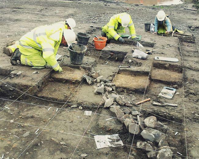 Archaeology Squares Pattern Grid Mud Hi Vis