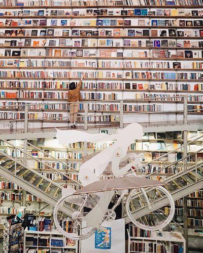 Holiday Lisboa Lisbon Interior Design Cafe Bookworm Bookstore Bookshop Bookshelf Books Full Frame Text Backgrounds No People Communication