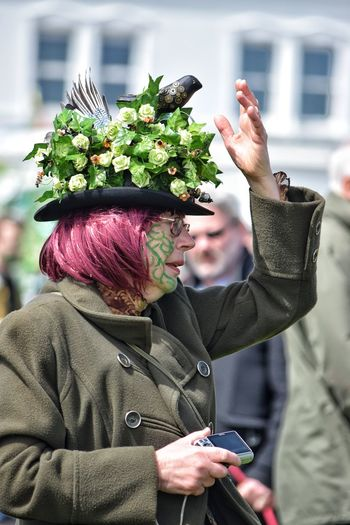 Jack In The Green Festival Hastings May Day 2017 Jack In The Green East Sussex May Day May Today's Hot Look Outdoors Happiness Warm Clothing Real People Pagan Pagan Festival Tradition Traditional Festival Focus On Foreground Lifestyles Mature Adult Headwear Performance Close-up Cultures Leisure Activity Hat