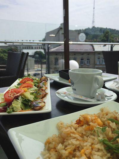 Breakfast Salad Eel Rice Squilla Coffee