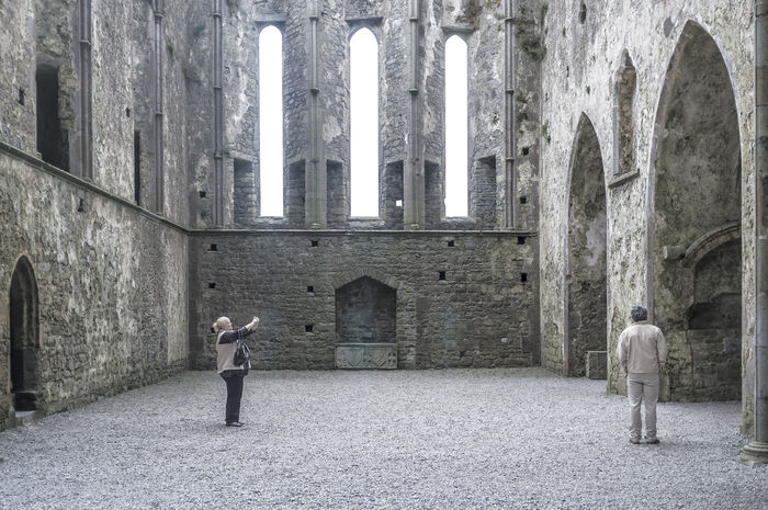 Arch Architecture Beige History Ireland Medieval Architecture People Photography People Watching Rock Of Cashel FujiFilm X100