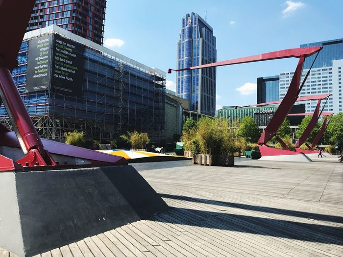 Schouwburgplein Architecture Built Structure Building Exterior City Sunlight Nature Sky Travel Destinations