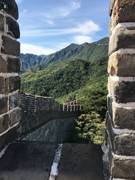 Great wall Mountain Sky Architecture Built Structure Day History Nature Outdoors Cloud - Sky Travel Destinations No People Beauty In Nature Tree Mountain Range Scenics Building Exterior