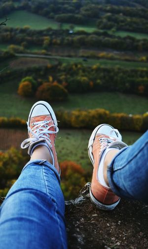 Jeans Personal Perspective Outdoors Human Body Part Nature Picoftheday French Nikon Freedom Travel Evening Landscape Nature_collection One Woman Only Converse Colours Orange Montains    Teenager Converseallstar Frenchgirl Vignes EyeEm Nature Lover Second Acts