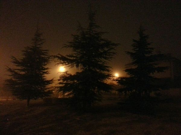 Lights Darkness Night Lights Mist Movilgrafias Galaxy Note 2 Graphic Nature