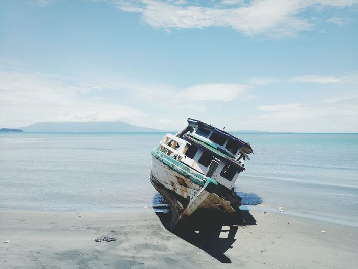 Sea Outdoors Nature Sky Water Travel Transportation Travelphotography No People Ocean Travel Photography Beach Ship Abandoned