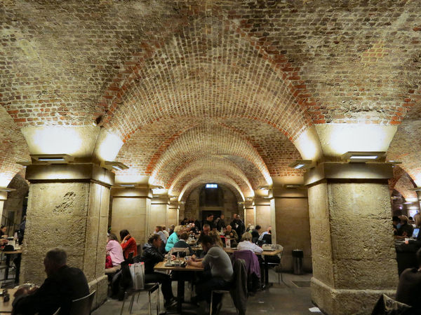 Arch Architectural Column Architecture Brick Ceiling Café In The Crypt Ceiling Crypt Food And Drink Illuminated Interior Large Group Of People Leisure Activity Lifestyles Saint Martin In-the-fields The Way Forward Tourism Travel Destinations London Lifestyle