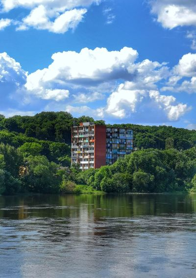 Lithuania Kaunas Urban Urbex Urbannature Apartment Oldbuilding River Nature Contrast Composition Archtecture Explore Exteriordesign Discover  Forest Light And Shadow Outdoors Abandoned Water Sky Cloud - Sky Waterfront Building Exterior Run-down The Architect - 2018 EyeEm Awards