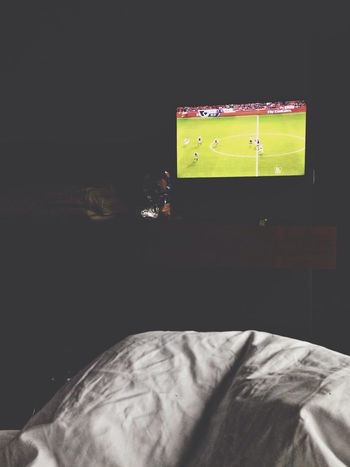 the morning after. Laying In Bed Watching Fußball Sunday