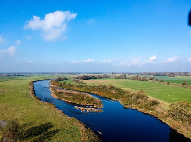 River River Mulde Arial View Arial Arial Tranquil Scene Water Nature Scenics Landscape Beauty In Nature Sky Tranquility No People Day Outdoors Grass Field Green Color River Blue Tree