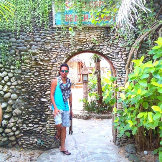 Old Main Gate of Coco Grove Stones Gate Cocogrove Siquijorisland Siquijor mysticsiquijor visitph2015 beach resort 16Feb