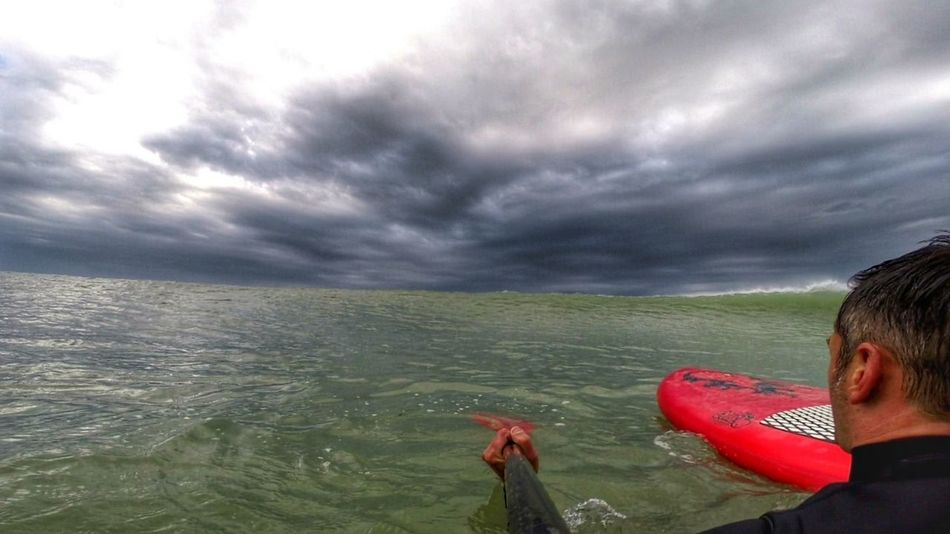 stand up paddle session in stormCloud - Sky Sea Nature Horizon Over Water Landscape Outdoors The Great Outdoors - 2017 EyeEm Awards Surf Photography Surf Session Landscapes Lacanau-océan Storm Cloud Beauty In Nature Storm Paddle Surf Sup Surf Sea And Clouds Nature Gopro The Portraitist - 2017 EyeEm Awards Live For The Story Go Higher Lost In The Landscape