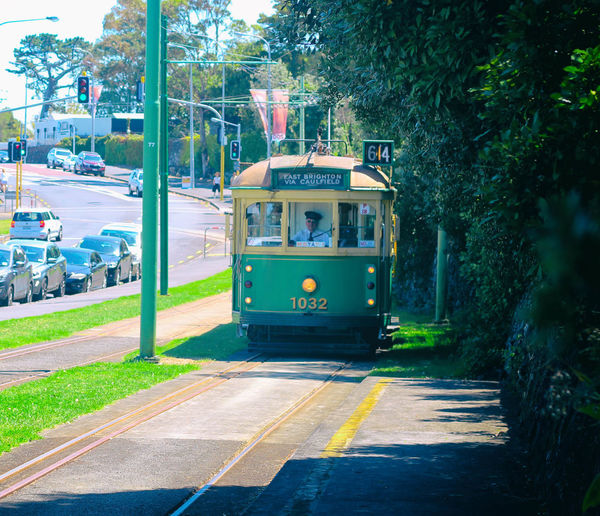 Architecture Auckland Built Structure City Day Green Color MOTATauckland Nature New Zealand Outdoors Public Transportation Train Tram Tram Tracks Tree